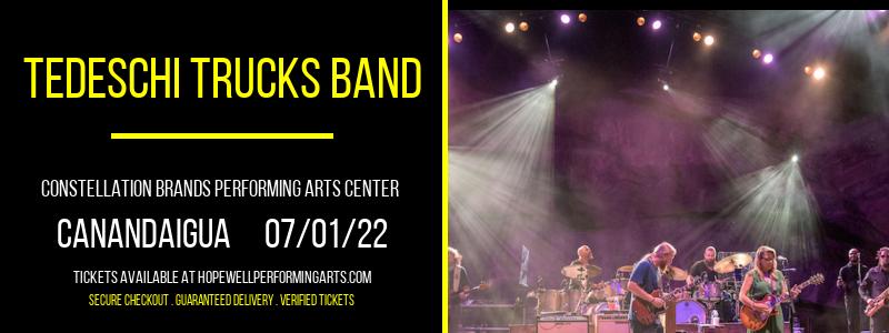 Tedeschi Trucks Band at Constellation Brands Performing Arts Center